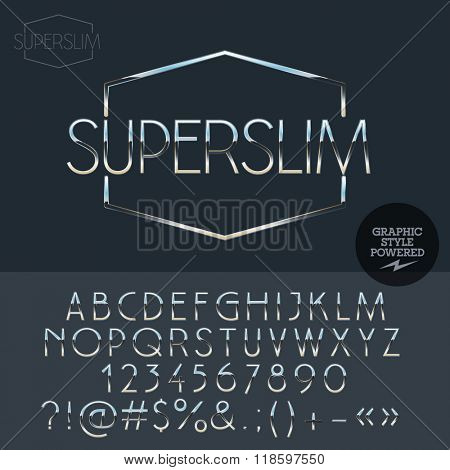 Silver  logo design for luxury car and sportcar shop. Vector set of letters, numbers and symbols.