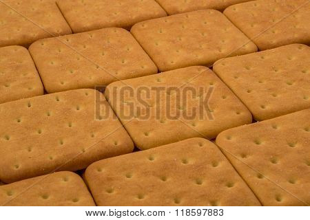 Cracker cookies close up background