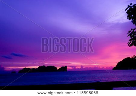 Darkening Heavens Evening Scene