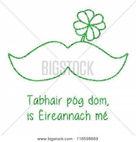 Glitter, Confetti St. Patrick Day Template