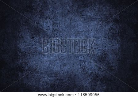 Navy Blue Scratched Metal Texture
