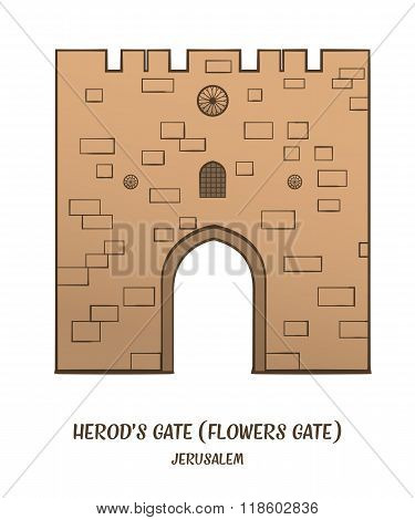 Herod's Gate in Jerusalem