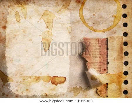 Grunge Paper With Coffee Marking