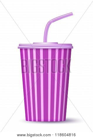 Fast Food Paper Cup Of Drink