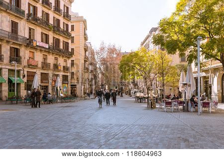 The historical center, district El Born of Barcelona