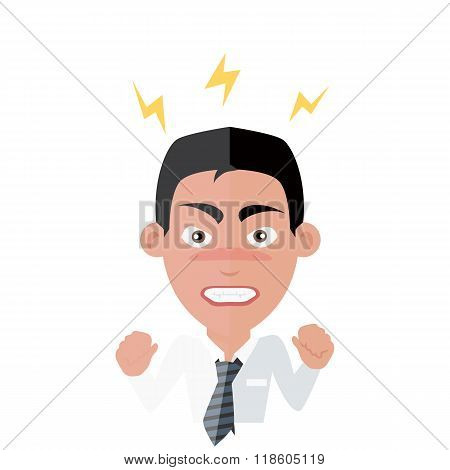 Emotion Avatar Man Angry Success