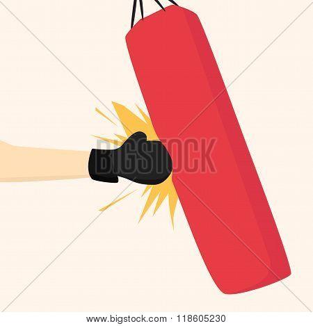 Boxer strikes pear