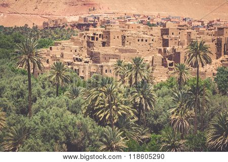 Tinerhir Village Near Georges Todra At Morocco