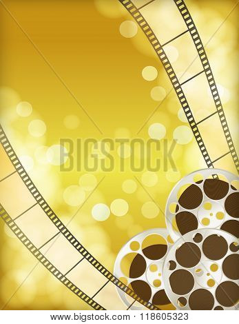 Cinema Golden Background