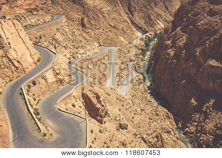 Winding Road In Dades Valley, Morocco, Africa