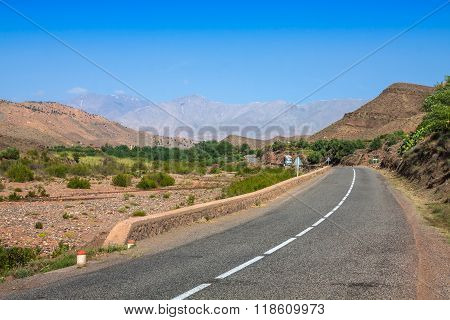 Morocco, High Atlas Mountains, Agricultural Land On The Fertile Foothills Near Ansi.