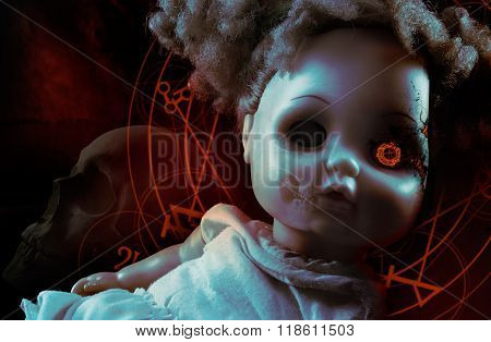 Possessed demonic doll.