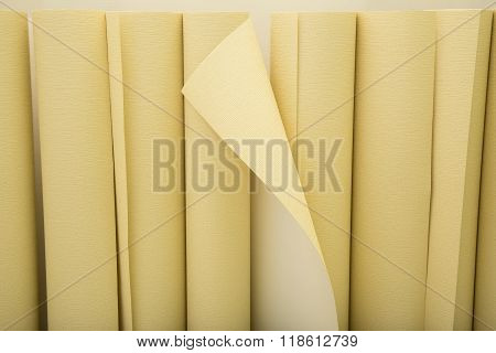 Background with rolls of wallpaper