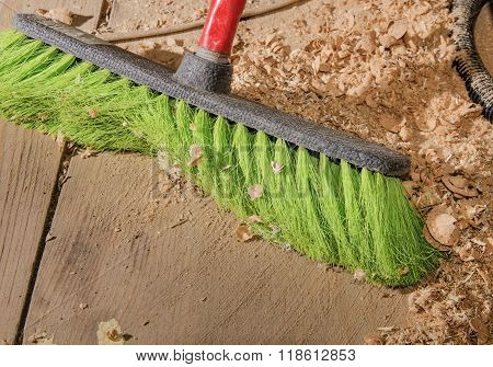 With A Brush For Dust Cleaning Close-up