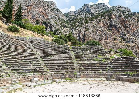 Ancient Theater In Delphi