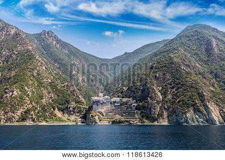 Dionisiou Monastery On Mount Athos