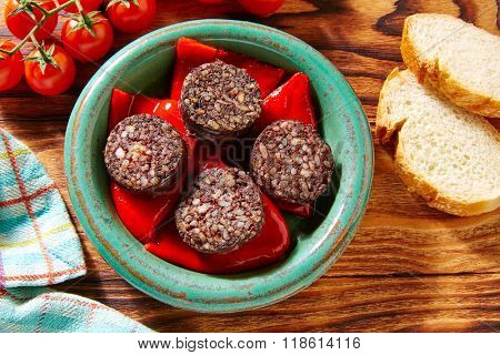 Tapas Morcilla de burgos rice black blood sausage from Spain
