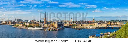 Panorama Of The Old Town (gamla Stan) In Stockholm, Sweden