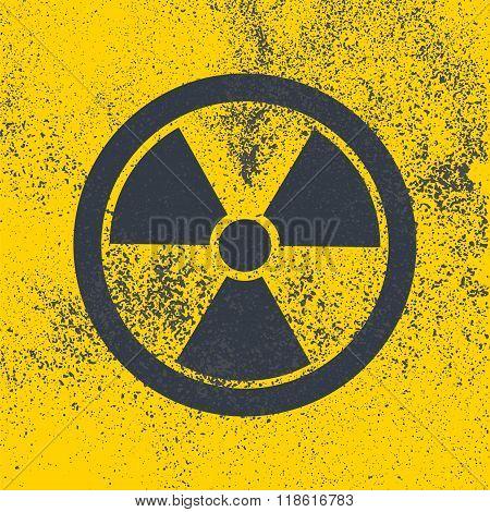 Radioactive Bitmap Symbol.