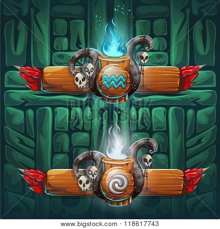 Jungle Shamans Gui  Boosters Air And Water