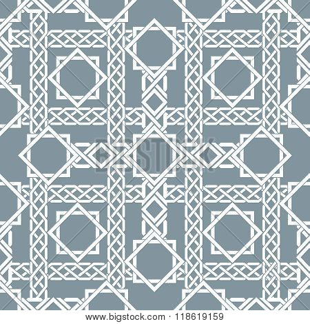 Arabic seamless pattern with intersecting stripes, islamic lines