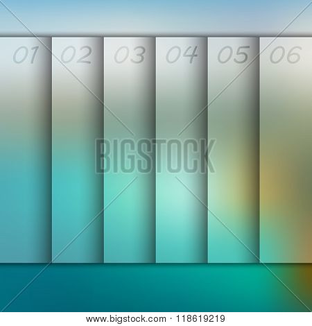 Infographic with blurred background