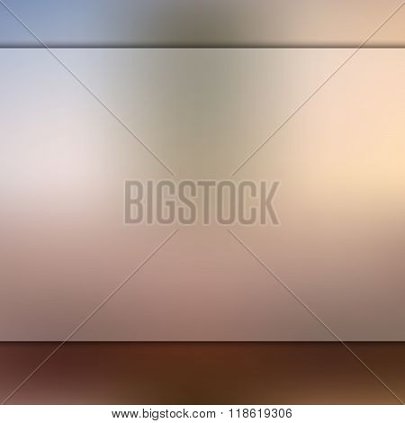 Glass on blurred brown background