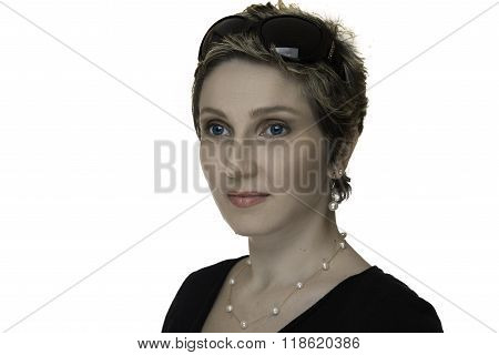 Beauty Portrait Of A Young Woman With Short Hair