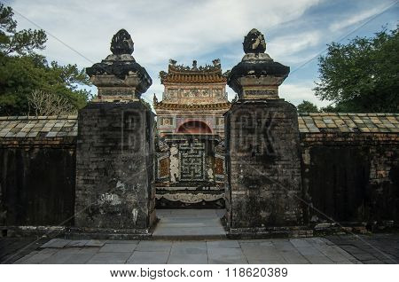 Hue, Vietnam - 5 January 2015: Tomb And Gardens Of Tu Duc Emperor In Hue, Vietnam - A Unesco World H