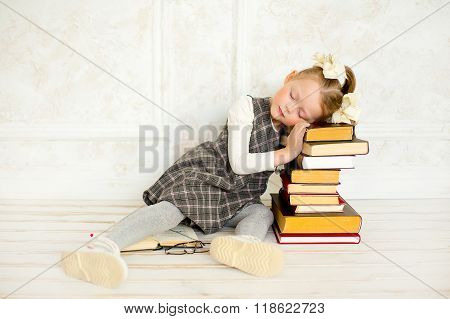 A Little The Girl With Books