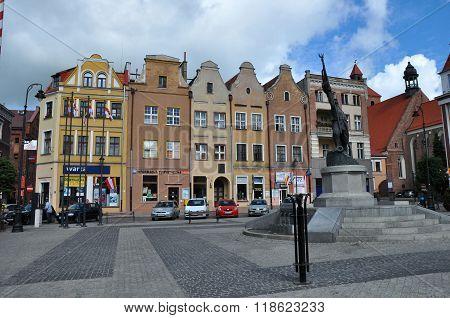 Grudziadz Main Square, Poland