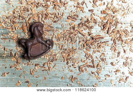 Chocolate Candy In The Shape Of  Horse