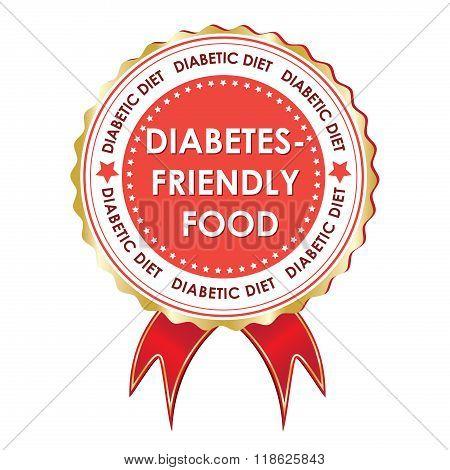 Diabetes friendly food label ribbon