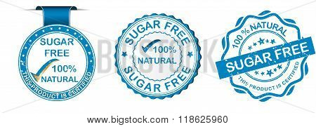 Sugar Free labels set.
