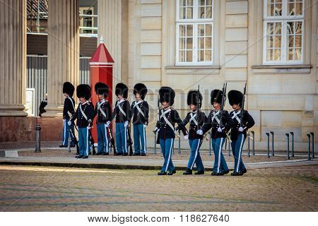 Guards Of Honour In Copenhagen