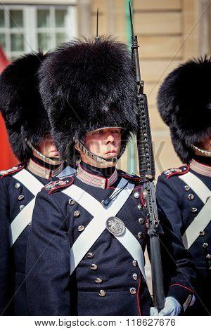 Guards Of Honour In Copenhagen