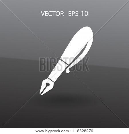 Flat  icon of pen