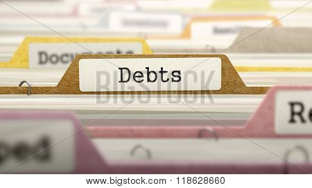 Debts - Folder Name in Directory.
