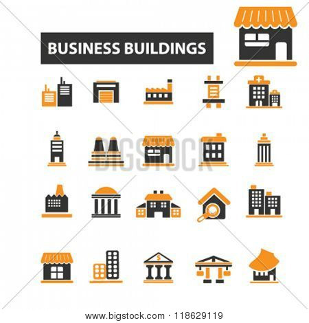 building icons, building logo, house icons vector, house flat illustration concept, house infographics elements isolated on white background, house  logo, house symbols set, home, urban, city