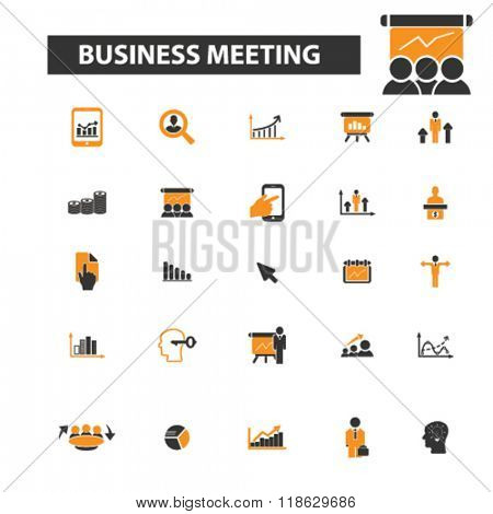 meeting icons, meeting logo, community icons vector, community flat illustration concept, community infographics elements isolated on white background, community logo, community symbols set, business