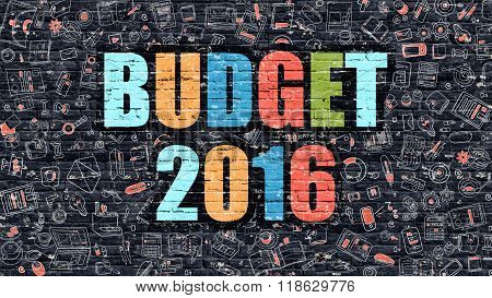 Budget 2016 on Dark Brick Wall.
