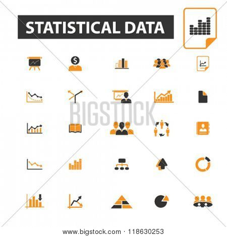 statistical data icons, statistical data logo, analysis icons vector, analysis flat illustration concept, analysis logo, analysis symbols set, infographic, business, growth, data, statistic, diagram