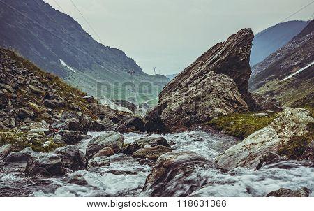 Mountain Stream Rapids,transfagarasan, Romania