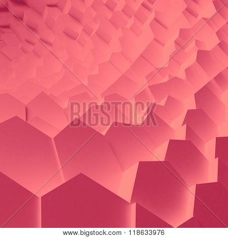Geometric color abstract polygons, as crack wall