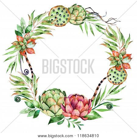 Colorful floral wreath