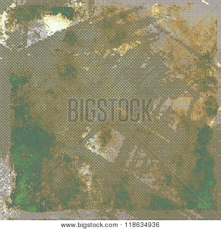 Antique vintage texture or background. With different color patterns: yellow (beige); brown; green; gray