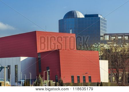 Modern Buildings In The Center Of Bucharest