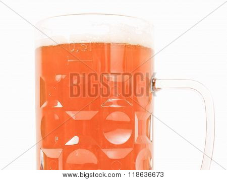 Retro Looking German Beer Glass