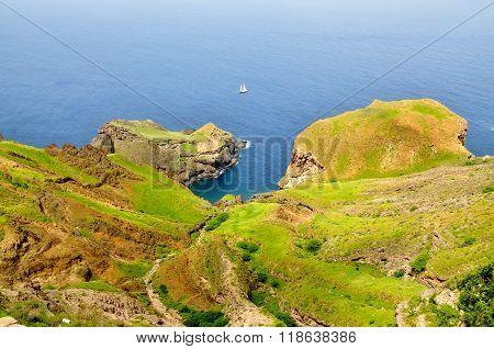Lagoon Between Cliff