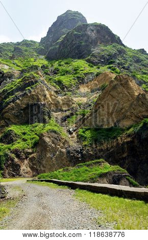 Road Under Mountain